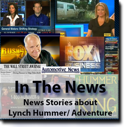Lynch Hummer and Adventure Accessories in the news